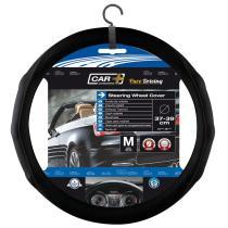 SUMEX 2505089 - funda de volante piel negra hilo rojo 37-38 cm